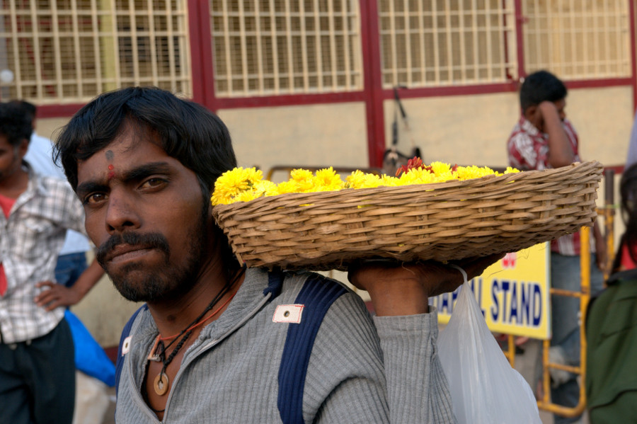 Flower Vendor in Mysore